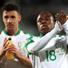 Republic of Ireland debutant Michael Obafemi (right) wants to play at international level for many years to come (Simon Cooper/PA)