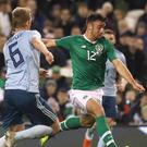 Republic of Ireland defender Enda Stevens (right) has backed manager Martin O'Neill to get it right (Lorraine O'Sullivan/PA)