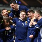 James Forrest scored a hat-trick as Scotland beat Israel to clinch play-off spot for 2020 Euros (Jane Barlow/PA)