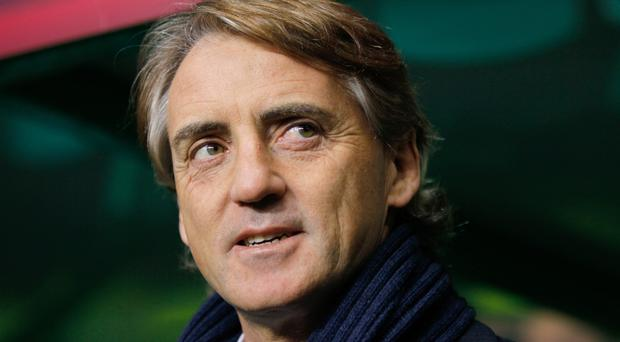 Roberto Mancini was happy with the result against the USA (PA)