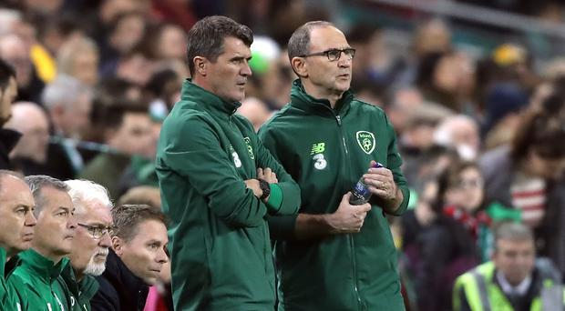 Mick McCarthy is among the front-runners to replace Martin O'Neill (right) as Republic of Ireland manager (Niall Carson/PA)