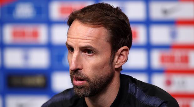 England manager Gareth Southgate during the press conference at Wembley Stadium, London.