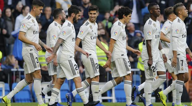 Real Madrid sealed their progression with a thrashing of Melilla at the Bernabeu (AP Photo/Paul White)