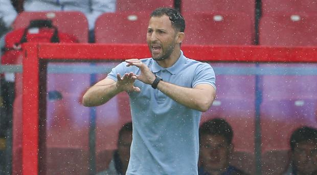 Schalke manager Domenico Tedesco has shut down talks of a relegation battle (Scott Heavey/PA)