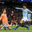 Leroy Sane's double against Hoffenheim ensured Manchester City won their Champions League group (Martin Rickett/PA)