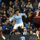 Leroy Sane was impressive as Manchester City overcame Hoffenheim (Martin Rickett/PA)