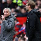 Jose Mourinho will be the underdog when his Manchester United side travel to face Jurgen Klopp's Liverpool (Martin Rickett/PA)