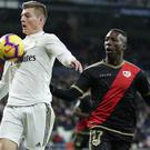 Toni Kroos, left, helped Real Madrid see off rivaks Rayo Vallecano (Manu Fernandez/AP)