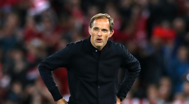 Paris St Germain manager Thomas Tuchel said was 'very, very happy' with his team's performance over the last few months (PA)