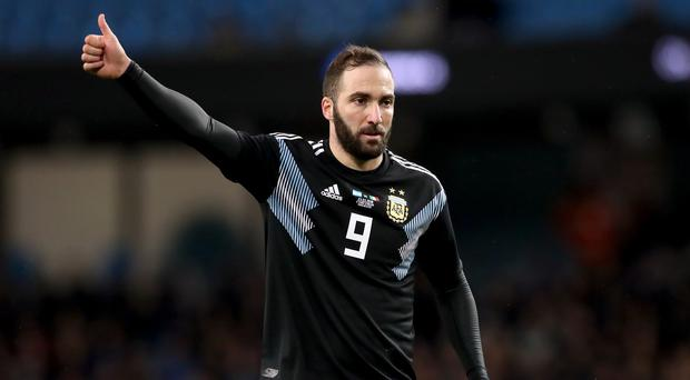 Gonzalo Higuain is being tipped for a potential loan move to Chelsea (PA)