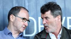 Former Nottingham Forest midfielder Roy Keane, right, is expected to link up with Martin O'Neill at the City Ground (Tim Goode/PA)