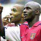Former Arsenal team-mates Thierry Henry (left) and Patrick Vieira face each other as managers when Monaco take on Nice (Tony Harris/PA)