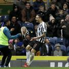 Joselu celebrates putting Newcastle ahead in extra-time (Martin Rickett/PA)