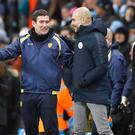 Pep Guardiola's Manchester City beat Nigel Clough's Burton 9-0 last week (Martin Rickett/PA)