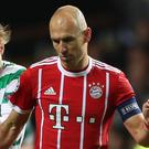 Arjen Robben remains sidelined for Bayern (Andrew Milligan/PA)
