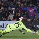 Ousmane Dembele scored twice to help Barcelona advance in the Copa Del Rey (Manu Fernandez/AP)