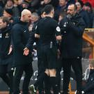 Nuno Espirito Santo was sent off for his celebration (Mike Egerton/PA)
