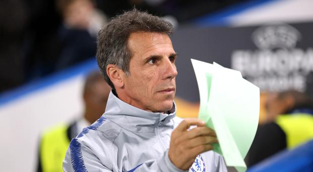 Chelsea assistant boss Gianfranco Zola is wary of Championship opponents Sheffield Wednesday (Nigel French/PA)