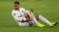 Brazil forward Neymar is set for another spell on the sidelines