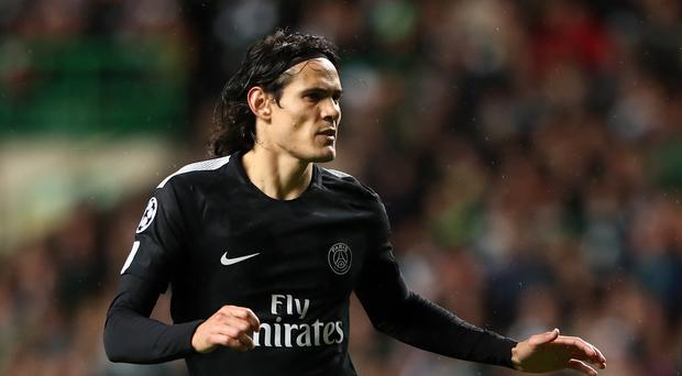 Edinson Cavani could miss the game against Manchester United (Andrew Milligan/PA)