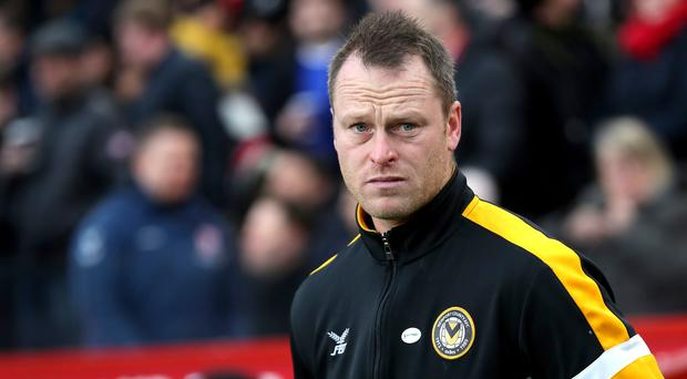 Newport manager Michael Flynn believes the heavy Rodney Parade pitch will help them in their FA Cup tie against Manchester City (Richard Sellers/PA)