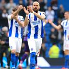 Bruno applauds Brighton's fans at the end of the game (Gareth Fuller/PA)