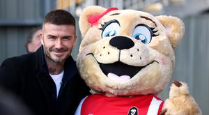 David Beckham was in attendance at Salford City's game against Dover Athletic (Martin Rickett/PA)