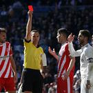 Sergio Ramos saw red as Real Madrid were beaten by Girona (Andrea Comas/AP)