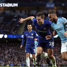 Chelsea and Manchester City face each other in the Carabao Cup final this weekend (Martin Rickett/PA)