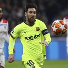 Lionel Messi was unable to break the deadlock as Barcelona drew 0-0 at Lyon (Laurent Cipriani/AP)