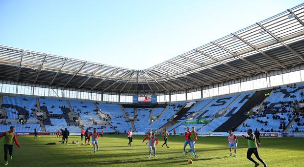 Coventry's current rent deal to play at the Ricoh Arena runs out in May (Barrington Coombs/PA)