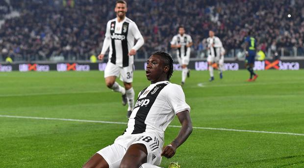 Moise Kean scored twice as Juventus beat Udinese (Alessandro Di Marco/ANSA via AP)