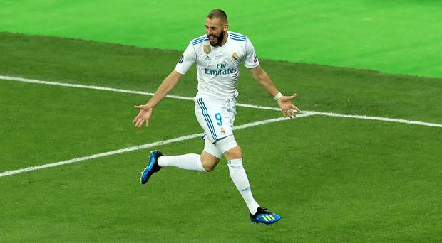 Karim Benzema bagged a brace for Real Madrid (Peter Byrne/PA)
