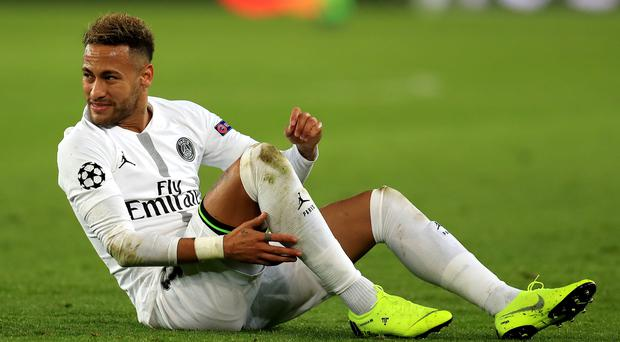 Neymar missed Paris St Germain's matches with Manchester United (Mike Egerton/PA)