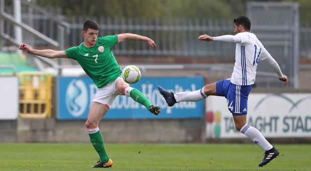 Declan Rice, right, has caused controversy after being allowed to switch allegiance from the Republic of Ireland to England (Niall Carson/PA)