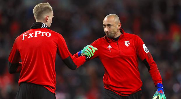 Heurelho Gomes (right) has kept three clean sheets in the FA Cup this season (Mike Egerton/PA)