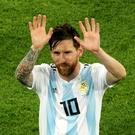 Lionel Messi is back in Argentina colours (Owen Humphreys/PA)
