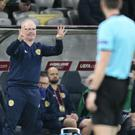 Alex McLeish's Scotland suffered a humiliating 3-0 defeat in Kazakhstan (Alexei Filippov/AP)