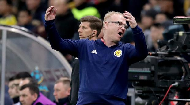 Scotland manager Alex McLeish has come under increased pressure following a run of poor results. (Adam Davy/PA)
