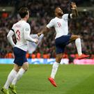 Raheem Sterling (right) has scored five goals in his last three international outings (Steven Paston/PA)