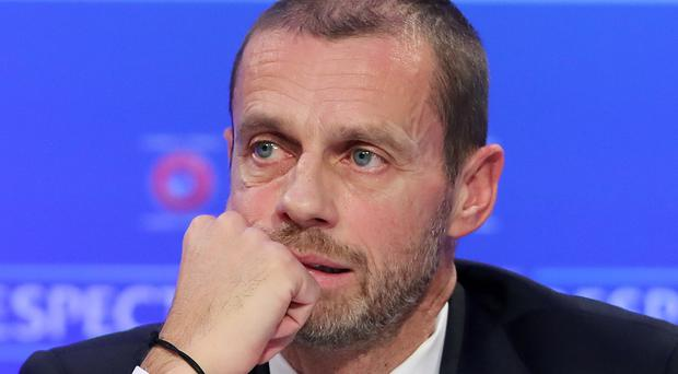 """UEFA president Aleksander Ceferin feels """"90 per cent"""" of football crowds are angry with a racist minority (Niall Carson/PA)"""