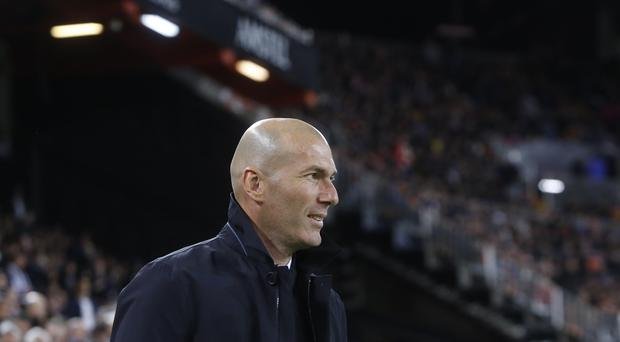 Zinedine Zidane suffered the first loss of his second spell at Real (AP Photo/Alberto Saiz)