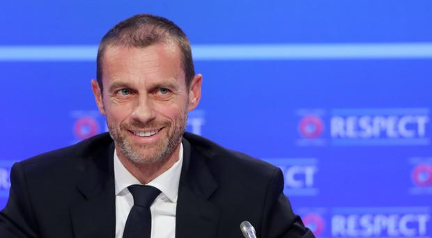 President Aleksander Ceferin, pictured, has insisted UEFA will not switch Champions League matches to weekends (Niall Carson/PA)