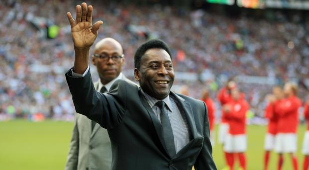 Pele is recovering after falling ill in France (Nigel French/PA)