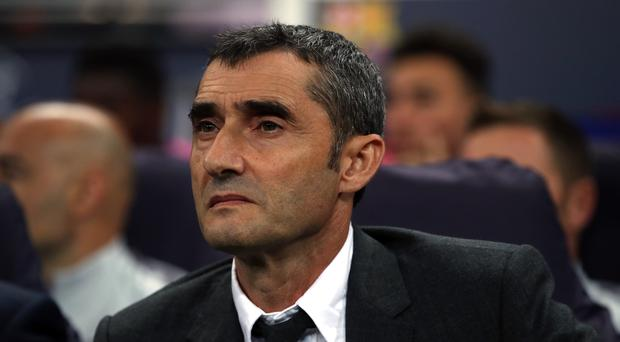 Ernesto Valverde's Barcelona have the chance to move 11 points clear at the LaLiga summit this weekend. (Nick Potts/PA)