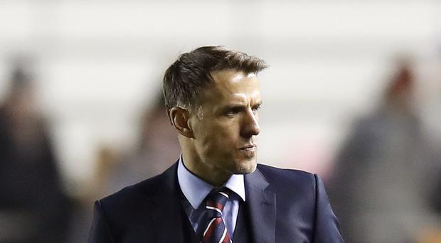 Phil Neville was pleased with the test his side received (Martin Rickett/PA)
