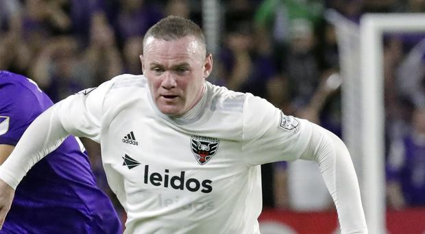 Wayne Rooney saw red against Los Angeles FC (John Raoux/AP)