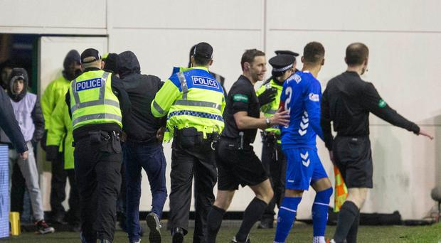 Hibernian fab Cameron Mack has been jailed for confronting Rangers captain James Tavernier during a match at Easter Road (Jeff Holmes/PA)