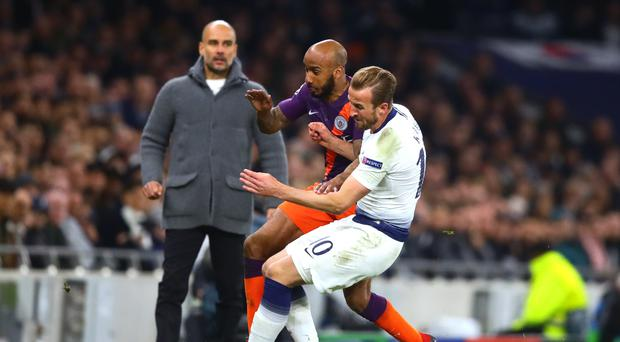 An injury to Harry Kane took the gloss off Tottenham's Champions League win over Manchester City (PA)