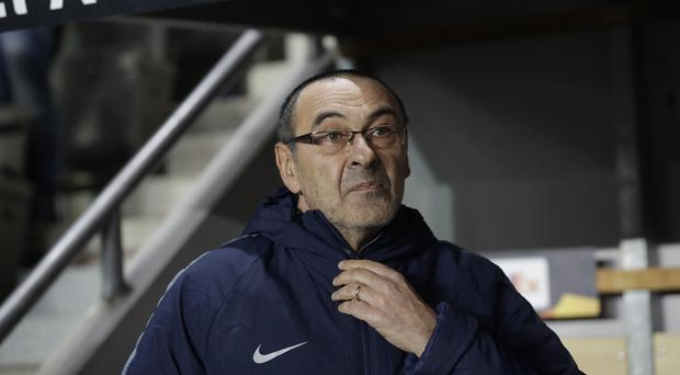 Sarri was forced to turn to Hazard (AP Photo/Petr David Josek)